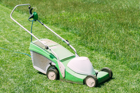 when to mow turf