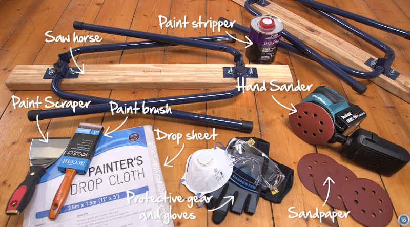 What you need to remove paint from door